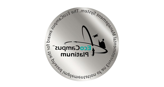 EcoCampus Platinum award 对于 the phased implementation of an Environmental Management System logo