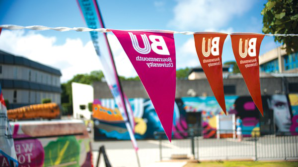 Bunting at a BU Open Day