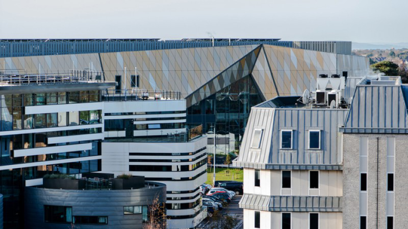 A shot of Talbot Campus, taken from the top of Poole House at the front end of the campus