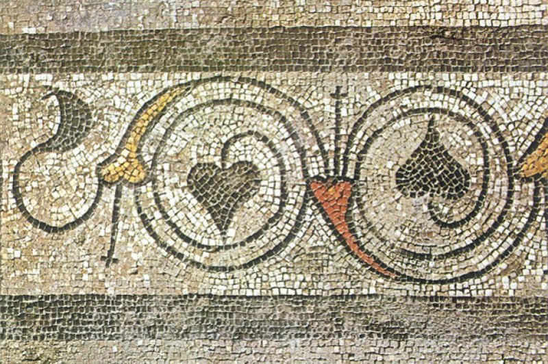 A mosaic in Fishbourne Palace