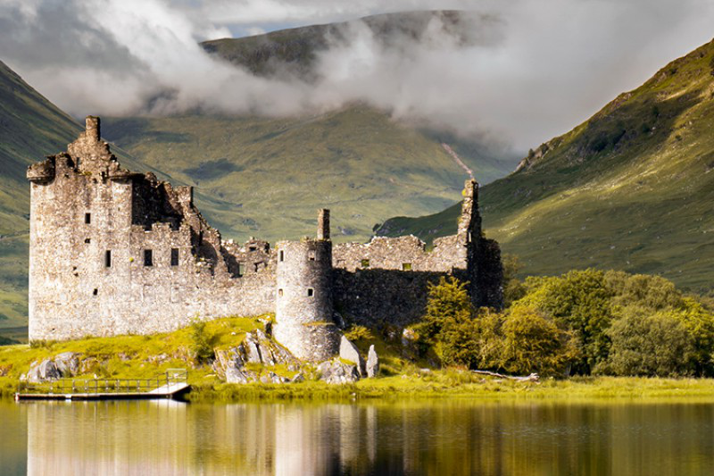 Kilchurn castle from Loch Awe