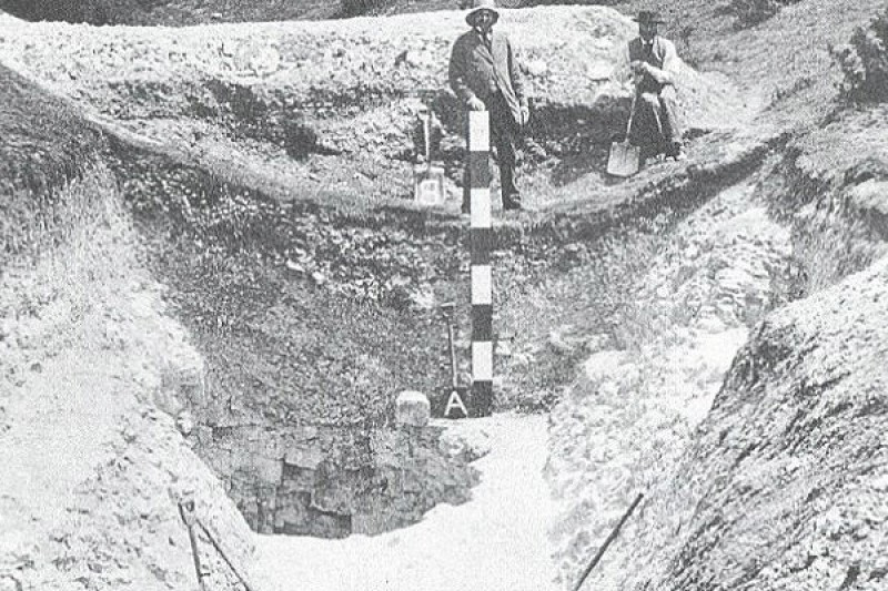 Neolithic flint mine investigation 1875