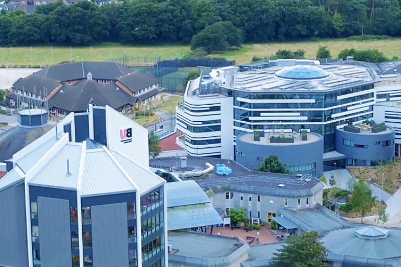 Aerial shot of Talbot Campus