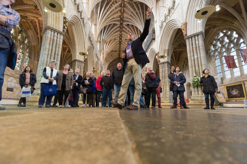 人 in Exeter Cathedral – England